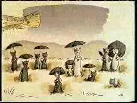 Кошки под дождём